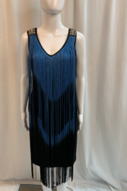 Frank Lyman Fringe dress with shoulder embelishment. - Front cropped