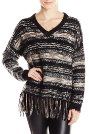 Blu Pepper Fringe-Hem Oversized Sweater - Product Mini Image