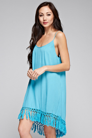 Lovestitch Fringe Hem Slip Dress - Product Mini Image