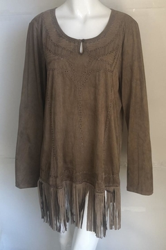 Shoptiques Product: Fringe-Hem Suede Dress