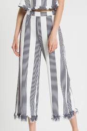 English Factory Fringe-Hem Wide-Leg Pants - Product Mini Image