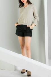 THML  Fringe knit sweater - Front cropped