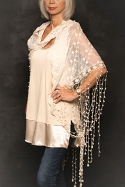 Origami Fringe Lace Shawl - Product Mini Image