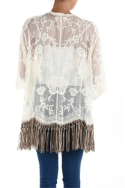 Origami Fringe Lace Top - Back cropped