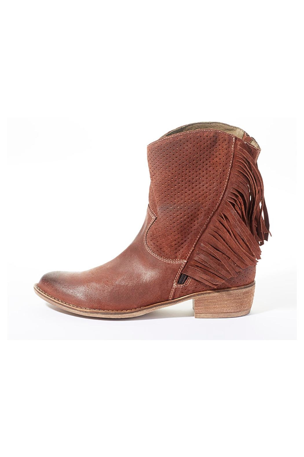 Rebel With Cause Fringe Leather Boots - Front Full Image