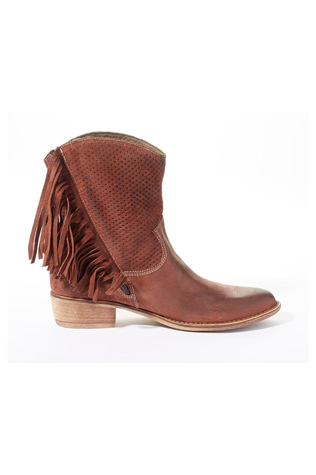 Rebel With Cause Fringe Leather Boots - Side Cropped Image