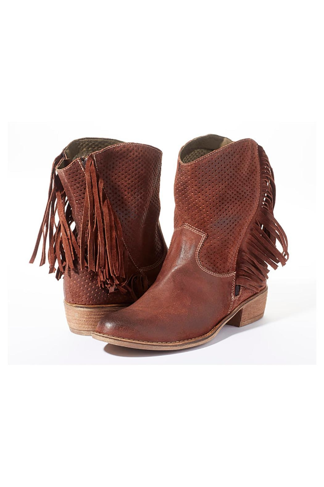 Rebel With Cause Fringe Leather Boots - Main Image