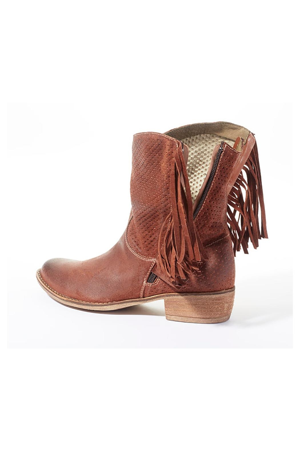 Rebel With Cause Fringe Leather Boots - Back Cropped Image