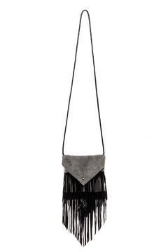 Fringe Leather Leather Suede Bag - Product List Image