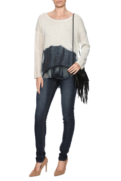 Fringe Leather Crossbody Leather Bag - Alternate List Image