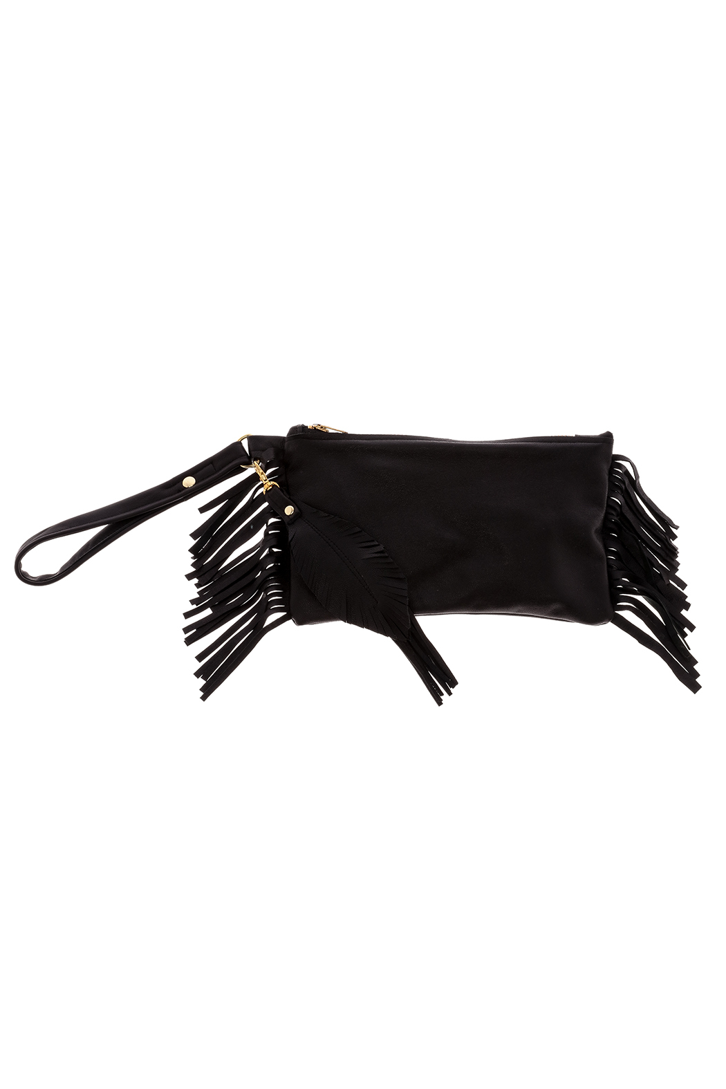 Fringe Leather Fringe Wristlet - Main Image