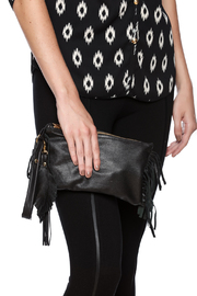 Fringe Leather Fringe Wristlet - Front full body