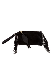 Fringe Leather Fringe Wristlet - Front cropped
