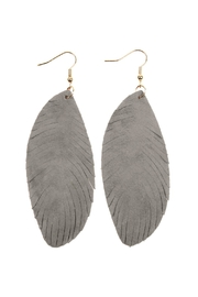 Riah Fashion Fringe-Leather Hook-Earrings - Front cropped