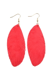 Riah Fashion Fringe-Leather Hook-Earrings - Product Mini Image