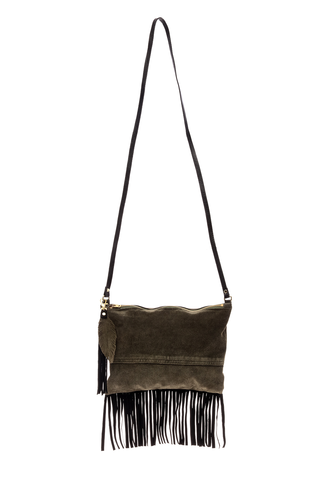 Fringe Leather Luxuries Suede Bag - Main Image