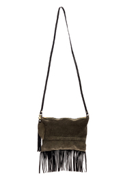 Fringe Leather Luxuries Suede Bag - Product Mini Image