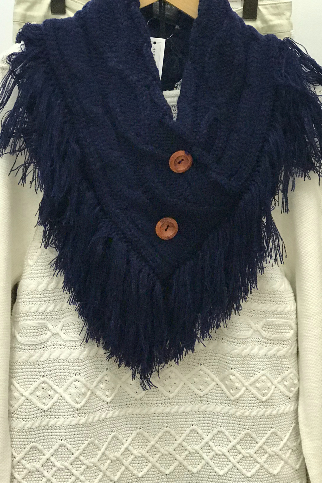 Gift Craft Fringe Neck Warmer - Main Image