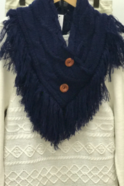 Gift Craft Fringe Neck Warmer - Front cropped