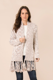 Simply Noelle Fringe Open Front Cardigan - Product Mini Image
