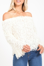LoveRiche Fringe Ots Sweater - Product Mini Image