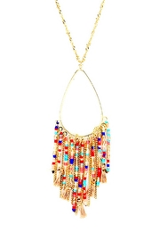 Wild Lilies Jewelry  Fringe Pendant Necklace - Front cropped