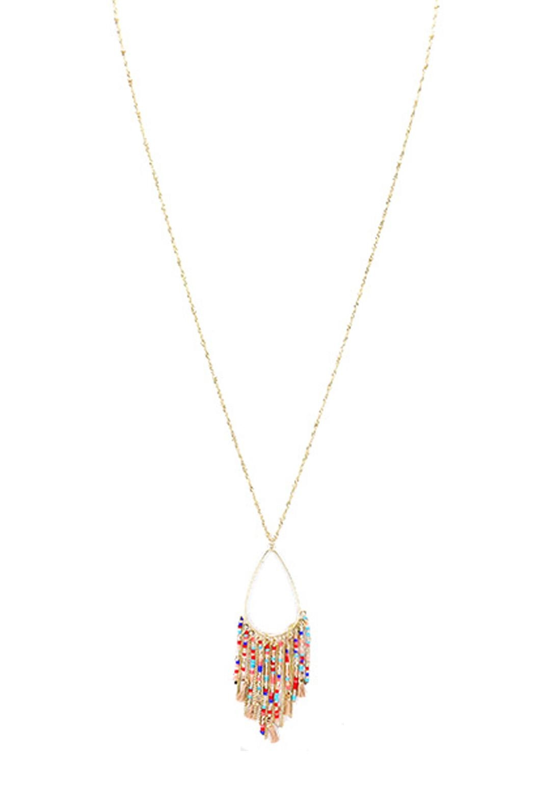 Wild Lilies Jewelry  Fringe Pendant Necklace - Front Full Image
