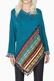 Adore Apparel Fringe Poncho Sweater - Product Mini Image