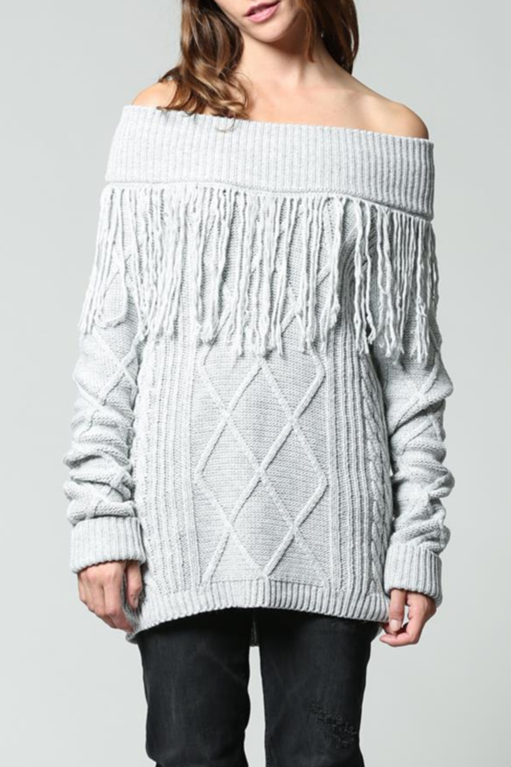 Fate Fringe pullover - Front Cropped Image