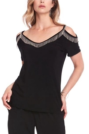 Cartise Fringe Shoulder Top - Product Mini Image