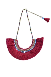 San Diego Hat Company Fringe Statement Necklace - Product Mini Image