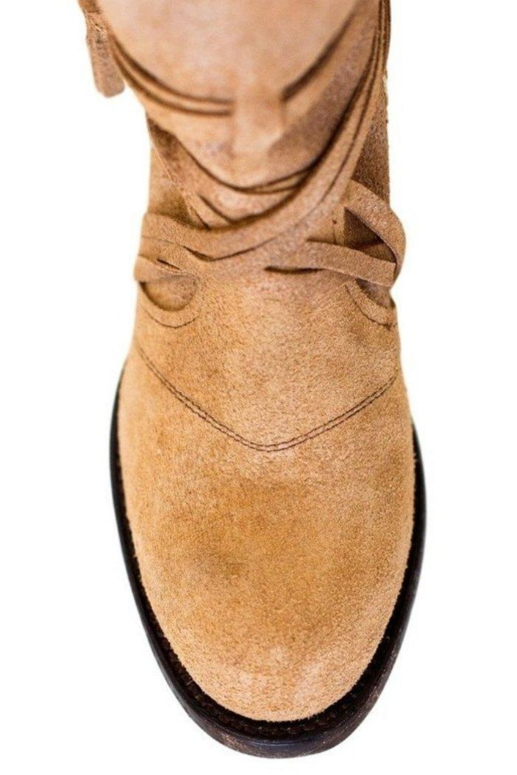 Miss Macie Boots Fringe Suede Bootie - Back Cropped Image