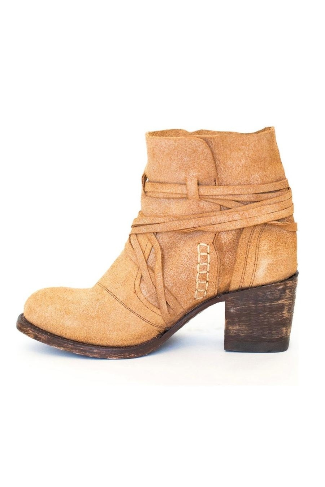 Miss Macie Boots Fringe Suede Bootie - Main Image