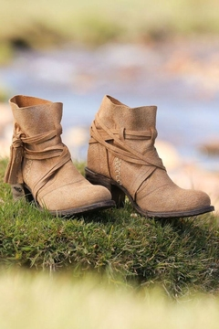 Miss Macie Boots Fringe Suede Booties - Product List Image