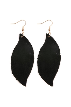Riah Fashion Fringe Suede Earrings - Product List Image