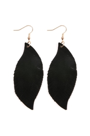 Riah Fashion Fringe Suede Earrings - Product Mini Image
