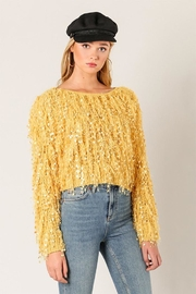 Wow Couture Fringe Sweater - Product Mini Image