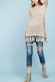 easel Fringe Sweater Tunic - Product Mini Image