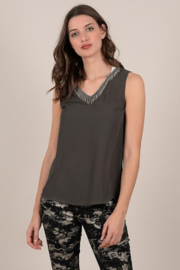 Molly Bracken Fringe tank top - Product Mini Image