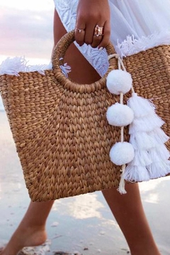 Jadetribe Fringe Tassel Basket - Alternate List Image
