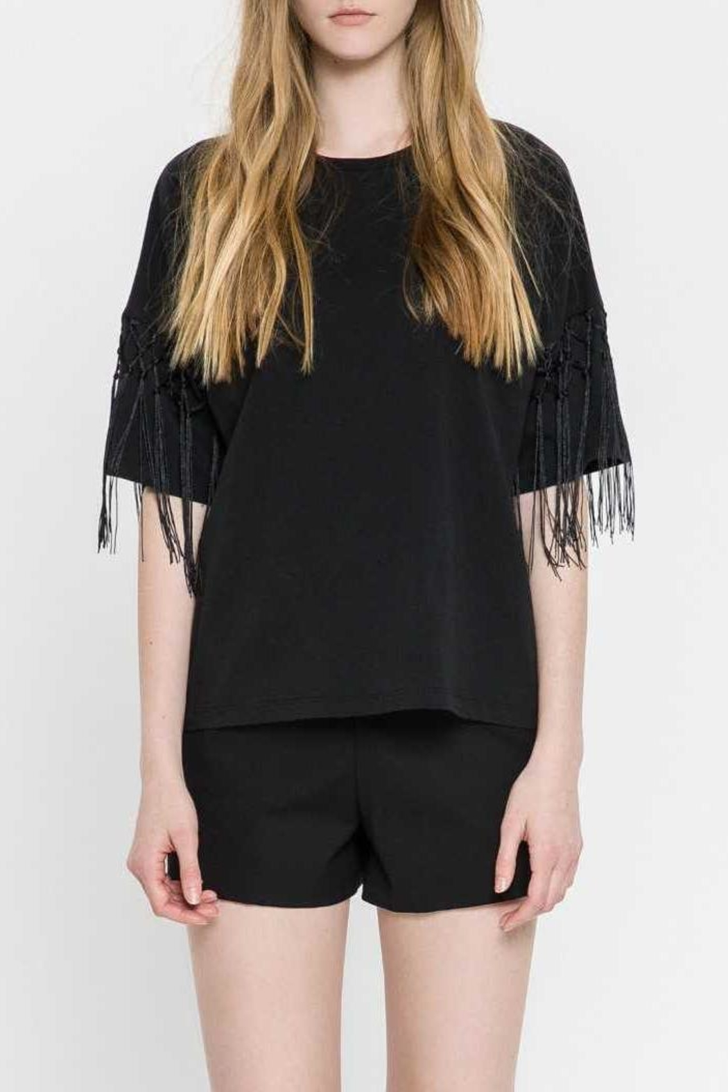 English Factory Fringe Top - Front Full Image