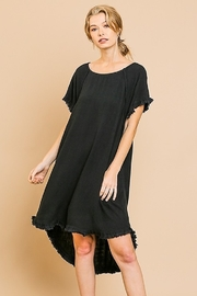 Umgee  Fringe Trim Linen Dress - Product Mini Image