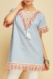 Entro Fringe Trim Tunic - Product Mini Image