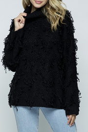 &merci Fringe Turtleneck Sweater - Product Mini Image
