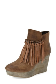 Sbicca Fringe Wedge Bootie - Product Mini Image