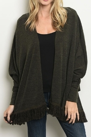 Millibon Fringed Cardigan Sweater - Product Mini Image