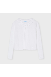 Mayoral Fringed Collar Cardigan - Front cropped