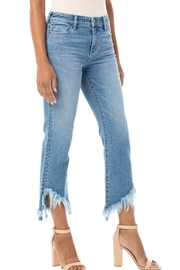 Liverpool  Fringed Crop-Flair Denim - Product Mini Image