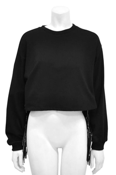 Gracia Fringed Crop Sweater - Product List Image
