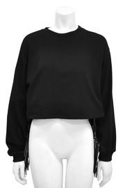 Gracia Fringed Crop Sweater - Product Mini Image